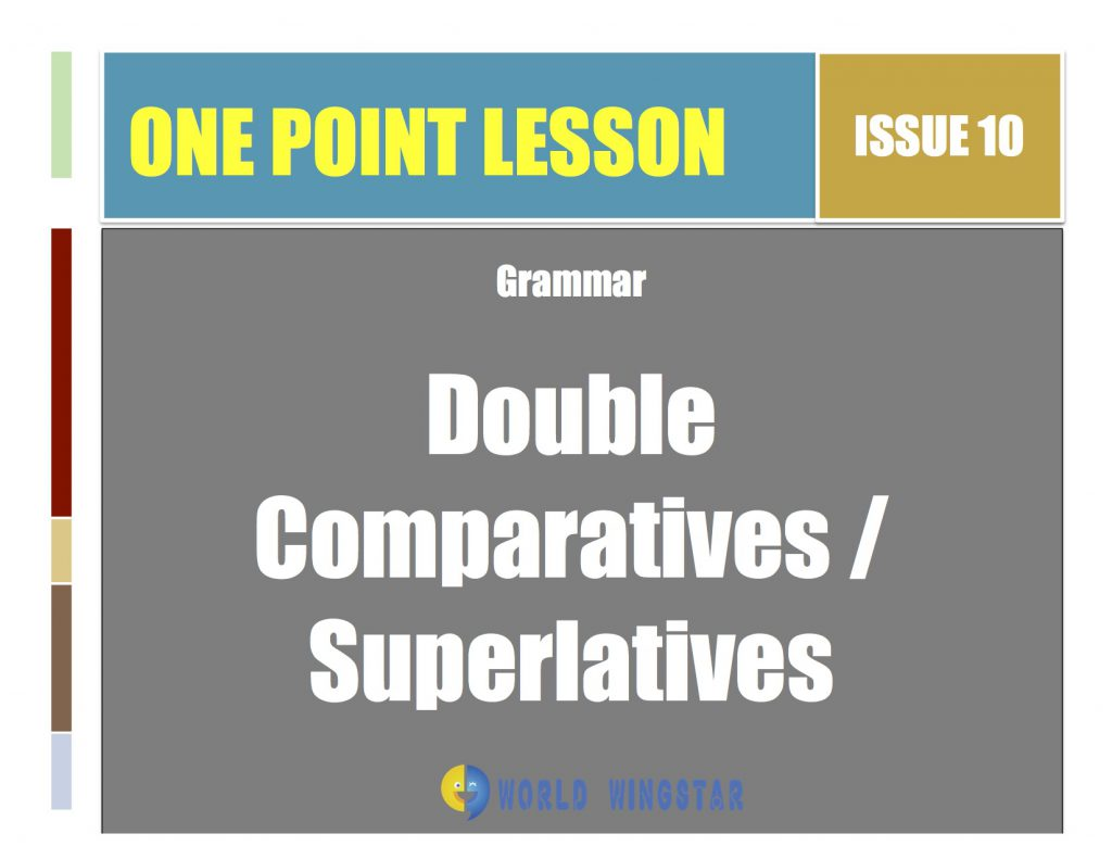 One Point Lesson #10